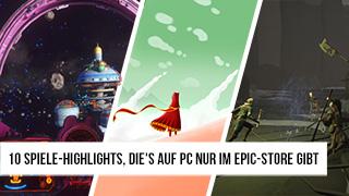 Game TV Schweiz - 10 Spiele-Highlights, die's auf PC nur im Epic-Store gibt
