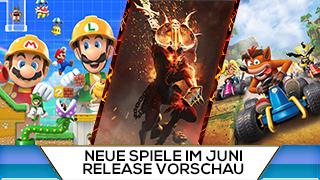 Game TV Schweiz - Neue Spiele im Juni: Super Mario Maker 2, Warhammer: Chaosbane, Crash Team Racing und viele mehr!