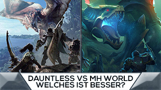 Game TV Schweiz - Was unterscheidet Dauntless von Monster Hunter: World?
